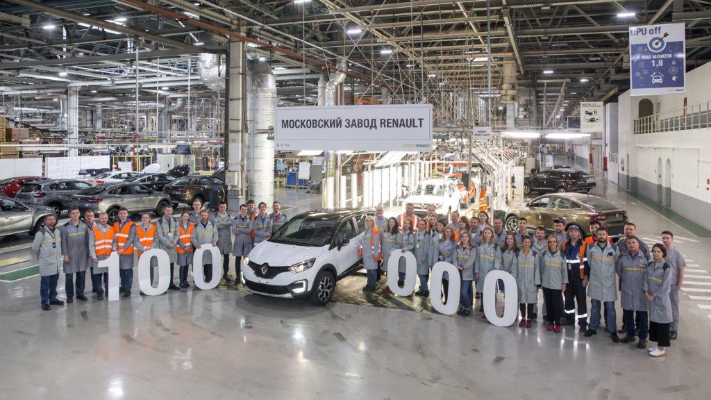 100 тысяч кроссовер Renault Kaptur произведено на Московском завода Renault