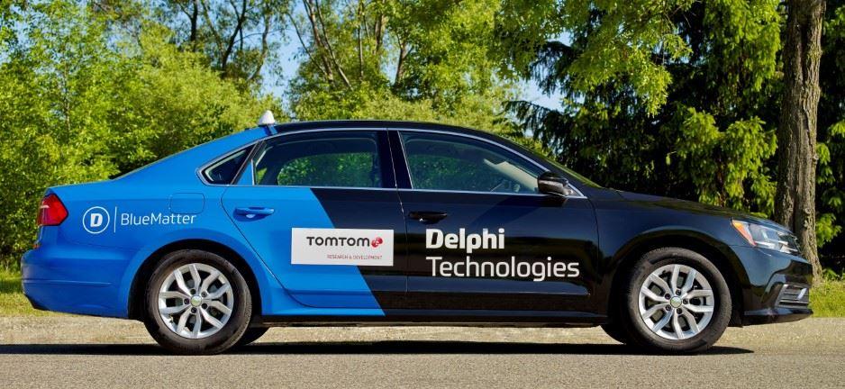 Инновационная разработка Delphi Technologies и TomTom ADAS