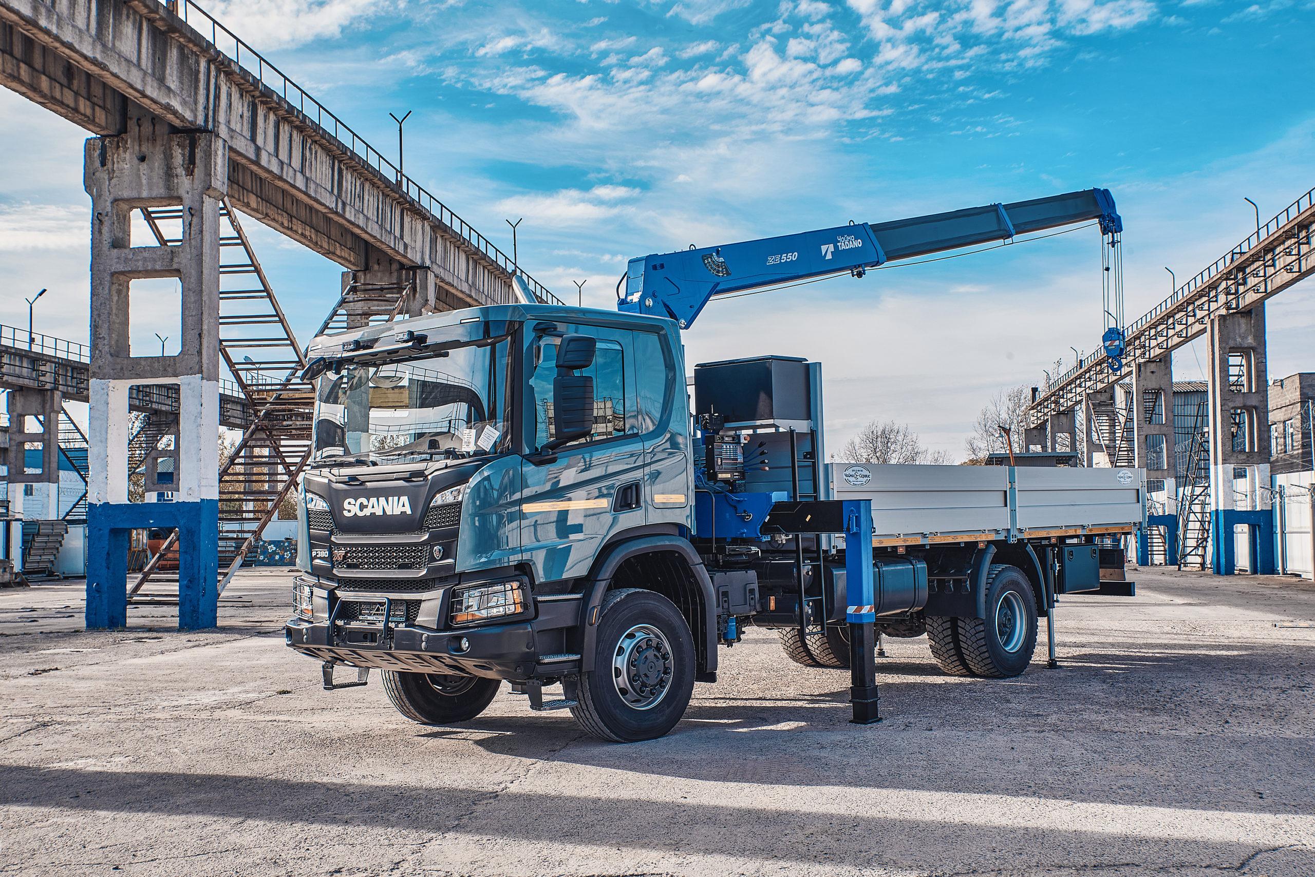 Полноприводная КМУ Scania на Камчатке