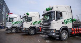 Scania продала 1000 грузовиков
