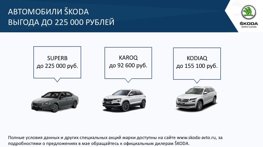 Выгодные условия на покупку автомобиля от ŠKODA